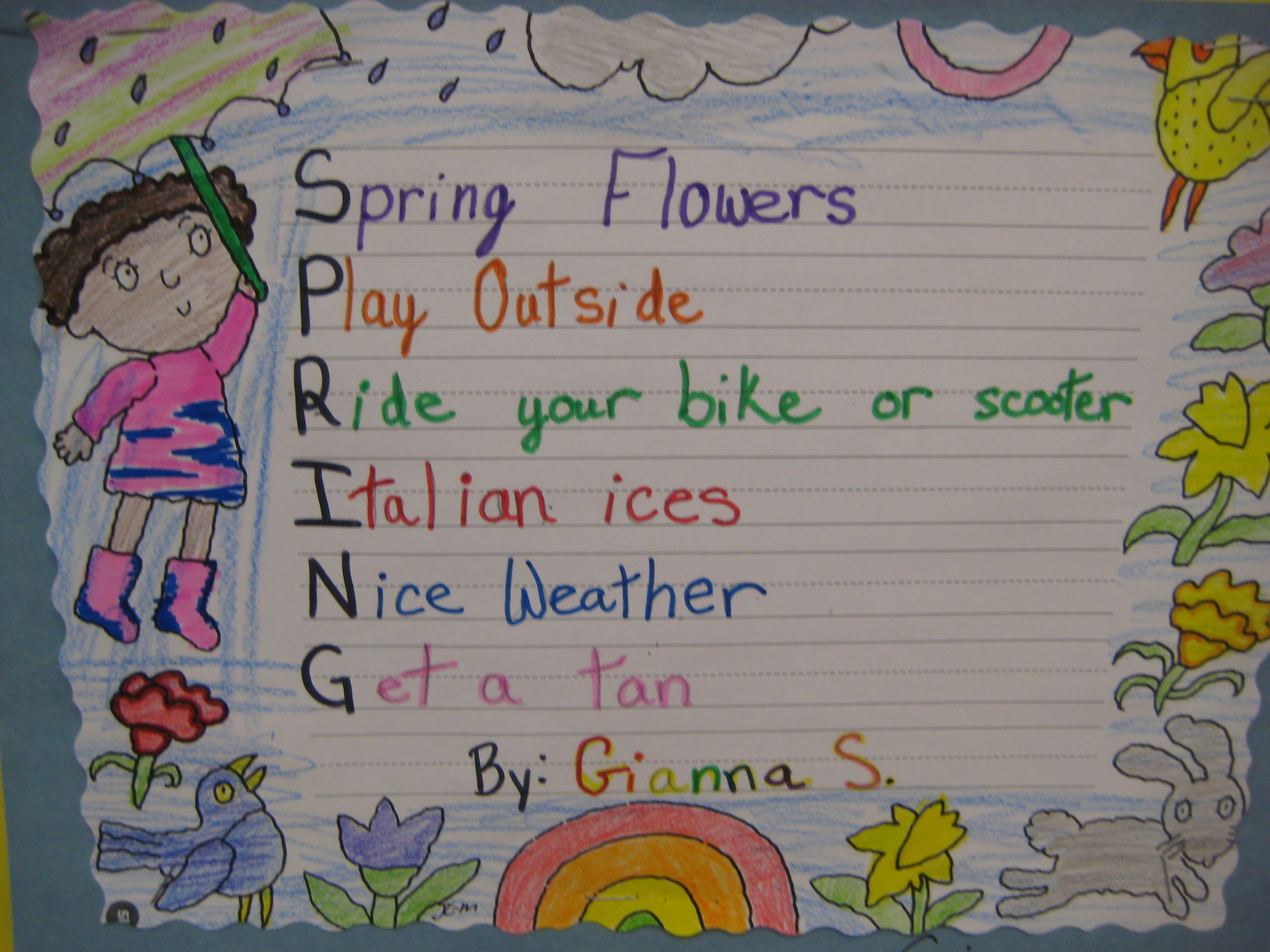 acrostic poem A short acrostic poem about friends a short acrostic poem about friends sign in  terracottallama is on storybird sign up to follow terracottallama's stories and.