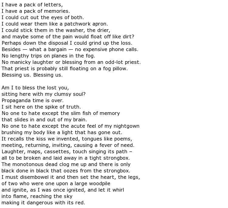 Anne Sexton famous poems