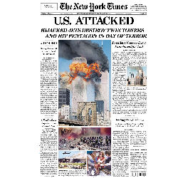 NY Times Front Page 9/12/2001