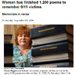 woman writes 1200 poems for 9-11