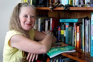 Science poet Celia Berrell Pic. Rogers Anna