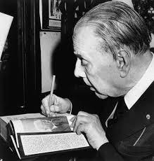 Jorge Luis Borges writing