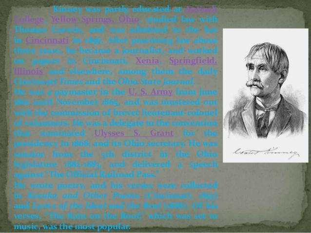 Coates Kinney Poems Gt My Poetic Side