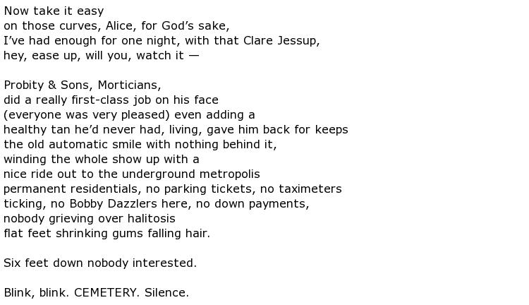 Bruce Dawe Poems > My poetic side