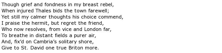 Samuel Johnson Poems > My poetic side