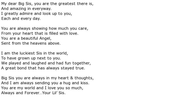 Sister Poems My Poetic Side