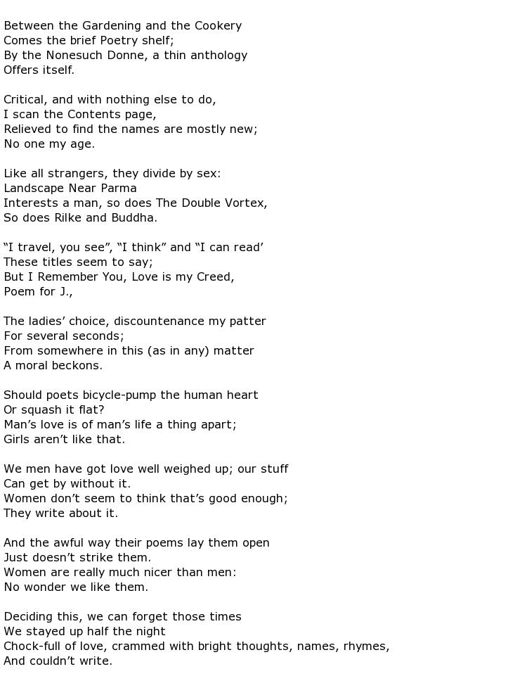 Kingsley Amis Poems > My poetic side