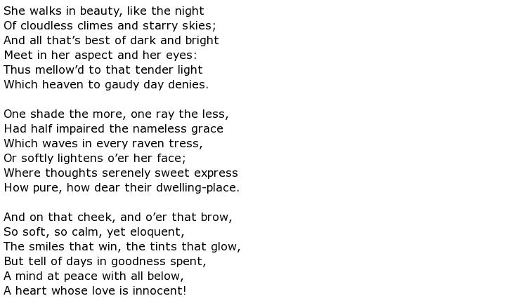 Lord Byron Poems > My poetic side