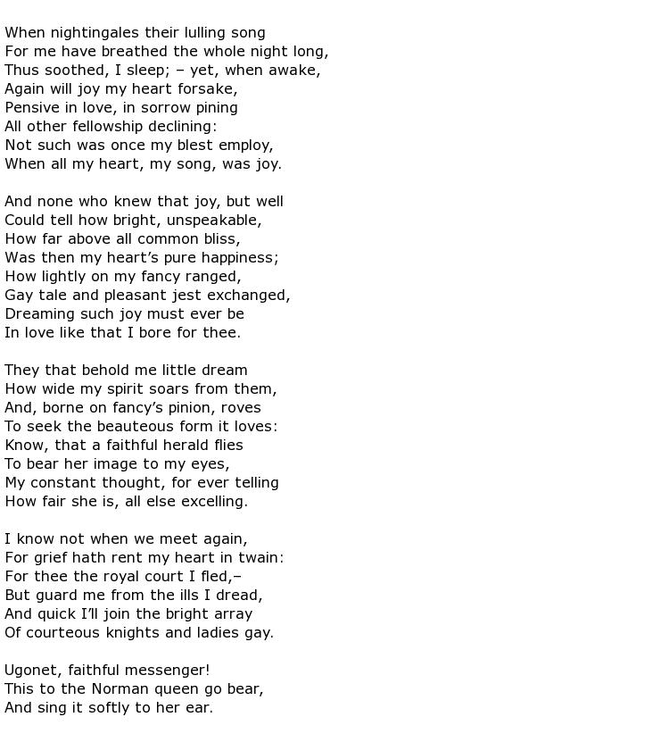 Bernard De Ventadorn Poems My Poetic Side