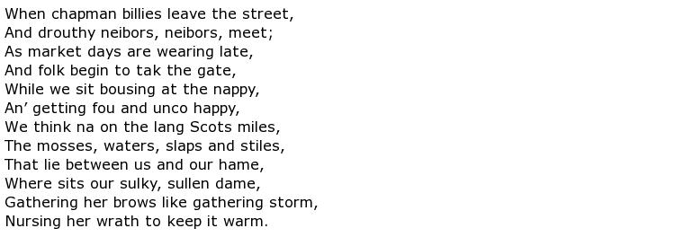Robert Burns Poems My Poetic Side