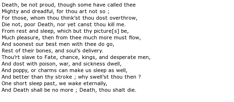 essay on death be not proud by john donne Essays death be not proud in the first quatrain john donne personifies death in this sonnet john donne acts as a brave soldier that combats this common.