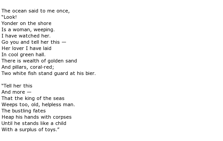 Stephen Crane Poems > My poetic side