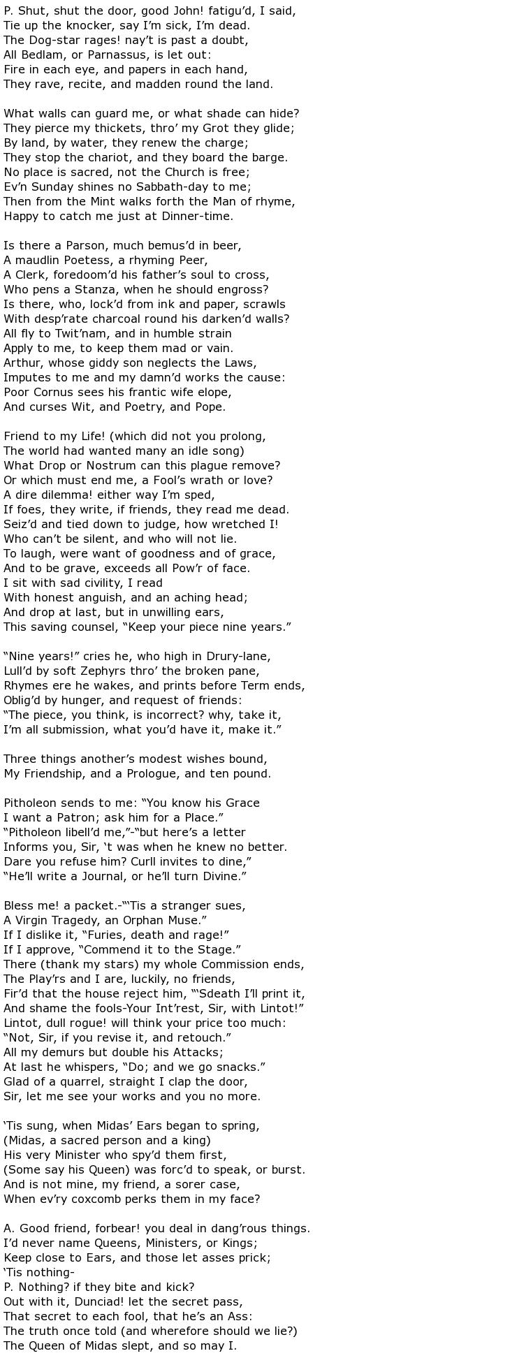 Alexander Pope Poems > My poetic side