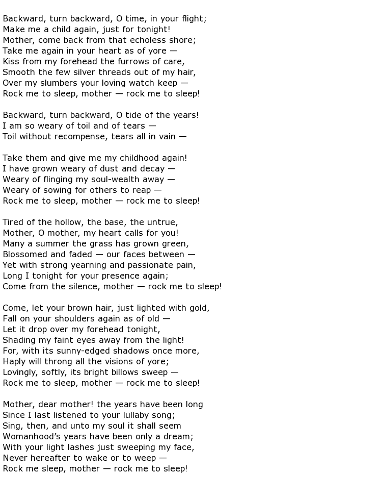 Elizabeth Akers Allen Poems My Poetic Side