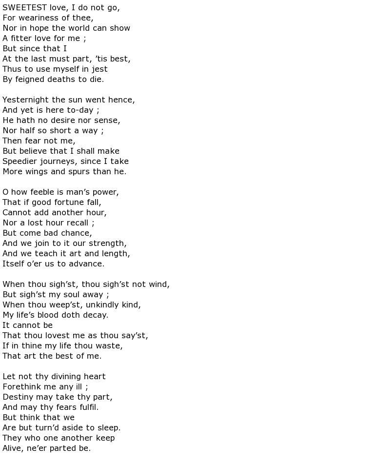 John Donne Poems My Poetic Side