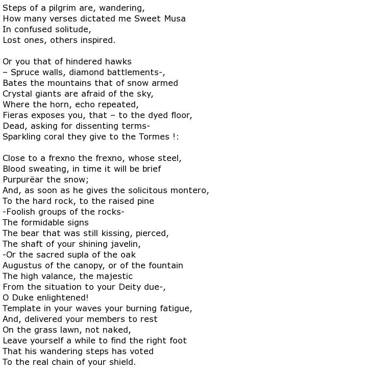 Luis de Góngora y Argote Poems > My poetic side