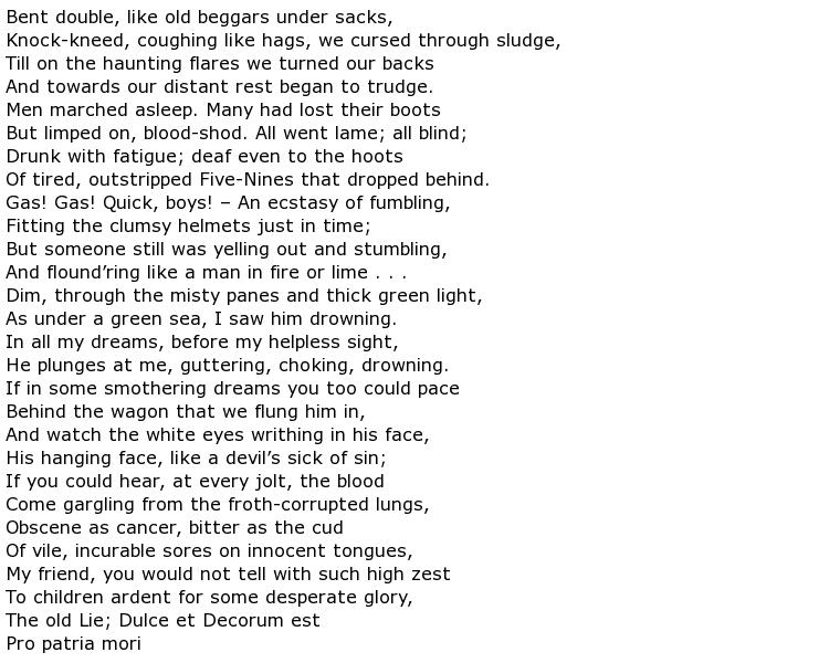 Wilfred Owen Poems My Poetic Side