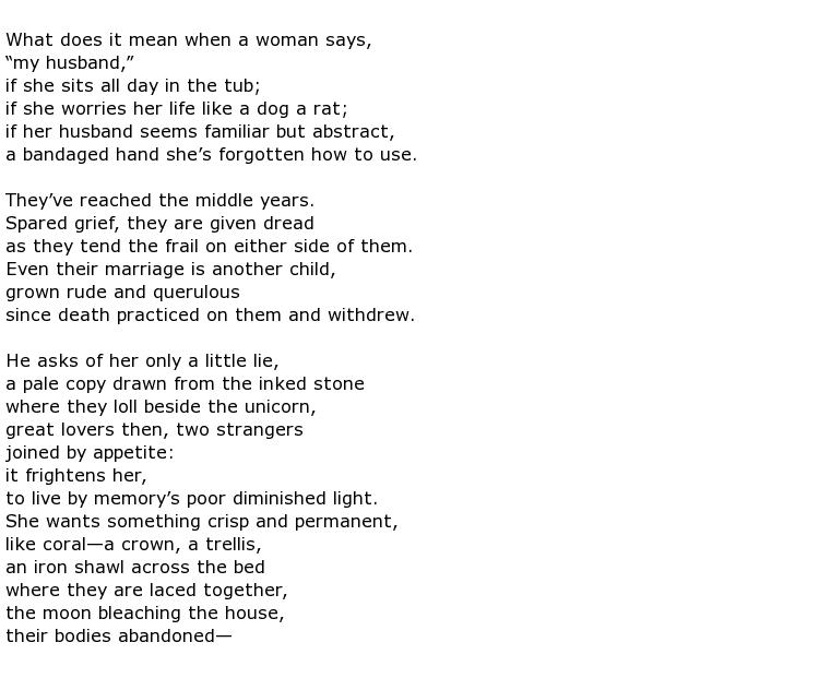 Ellen Bryant Voigt Poems > My poetic side